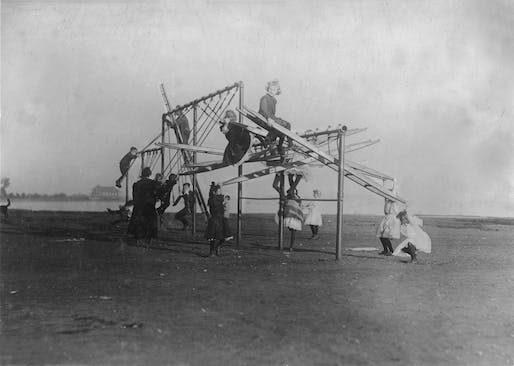 "A new exhibition showcases the world-changing vision of early landscape architects. Shown: ""The Dumps"" Turned into a Playground, Boston, 1909.Image courtesy of Lewis Wickes Hine."