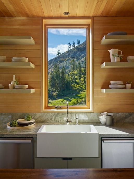 The Crow's Nest Residence in Sugar Bowl Resort, CA by BCV Architecture + Interiors; Photo: Bruce Damonte Photography