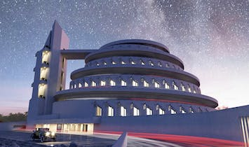 Architect David Romero brings Frank Lloyd Wright's unbuilt designs to life in these realistic renderings