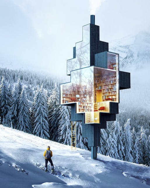 """<a href=""""https://archinect.com/antireality/project/collection-of-conceptual-architecture"""">Little Library</a> by <a href=""""https://archinect.com/antireality"""">Antireality</a>"""