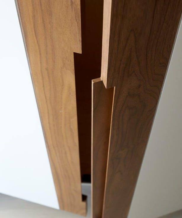 Master Dressing Room door pull detail. Joshua McHugh Photography