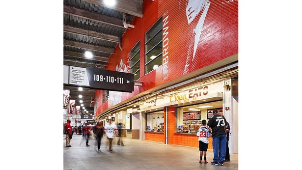 Main Concourse wayfinding and team graphics