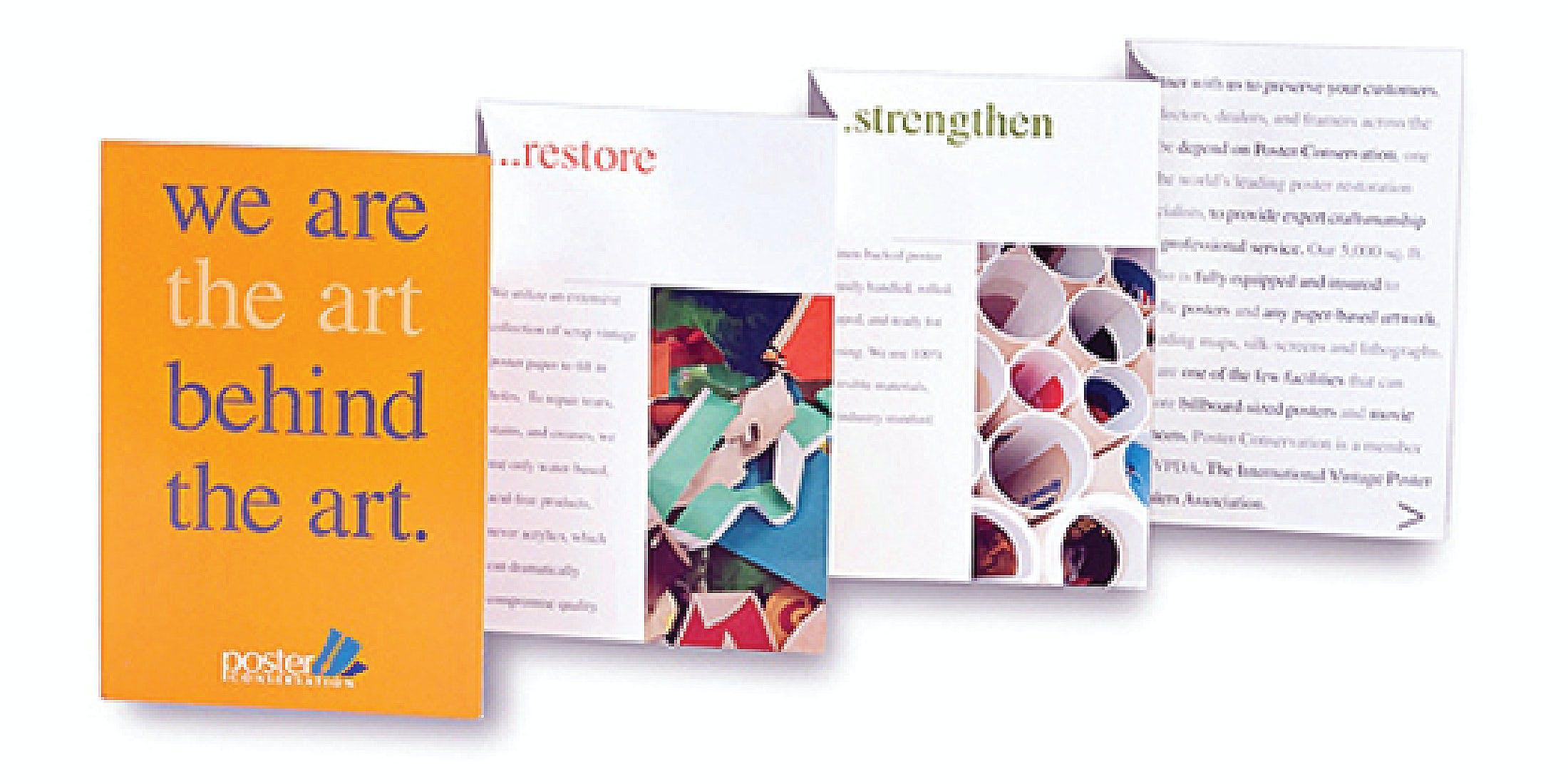 Fine Arts Framing Company Marketing Brochure | Robin Horton | Archinect