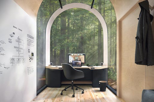 """<a href=""""https://archinect.com/news/article/150273249/denizen-takes-remote-working-to-the-next-level-with-3d-printed-office-pods"""">Denizen Architype</a> is one of several recent concepts for personal office pods to facilitate remote work away from residential spaces."""