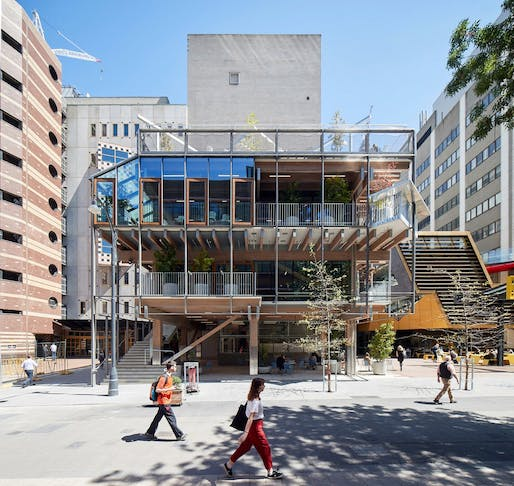 New Academic Street, RMIT University (Melbourne) by Lyons with NMBW Architecture Studio, Harrison and White, MvS Architects and Maddison Architects. Photo: Peter Bennett.