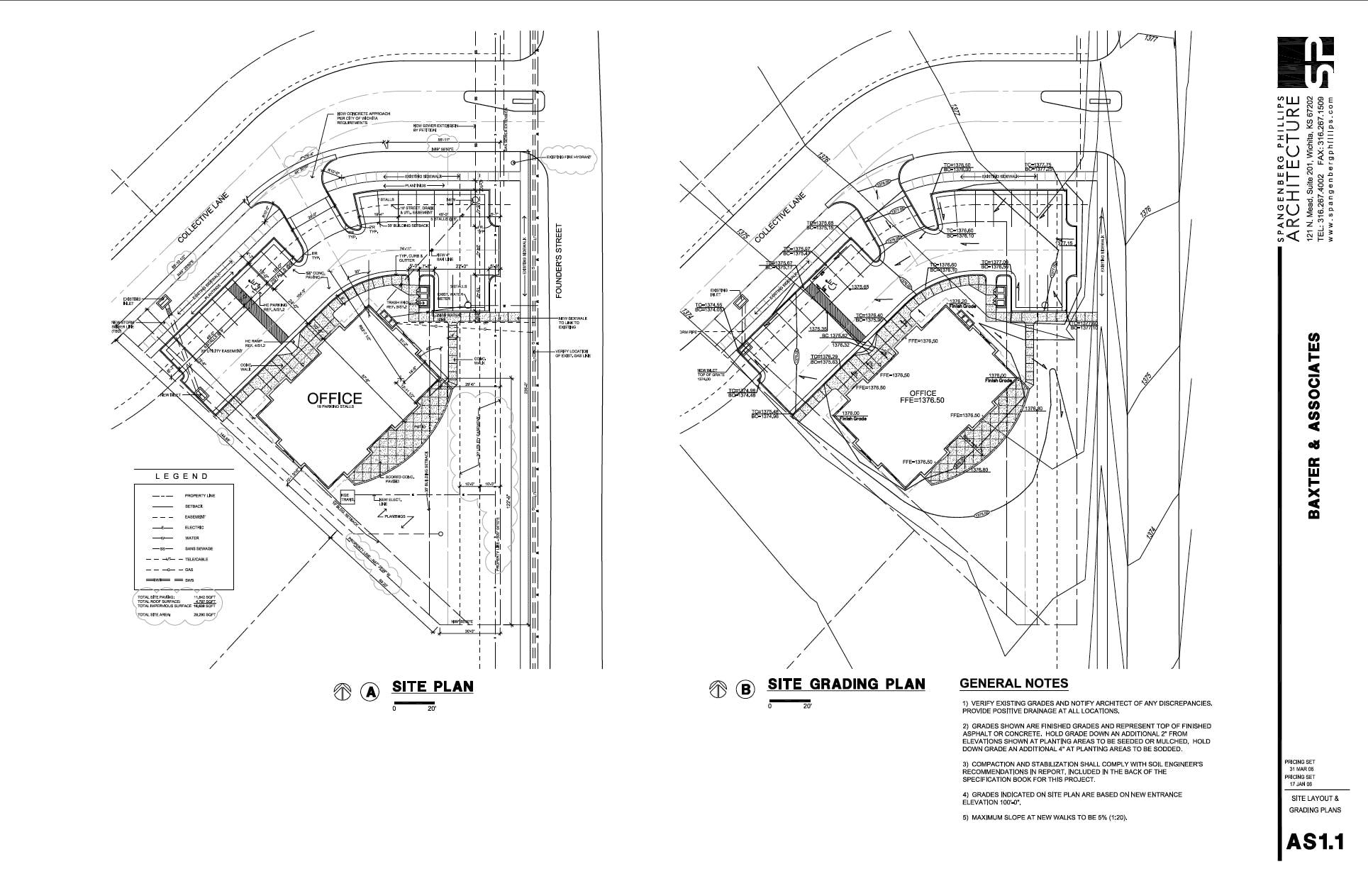 Construction Document Examples Jill Sornson Kurtz – Site Grading Plan