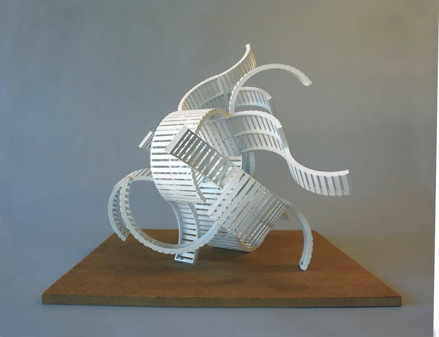 Scale model of the large sculpture.