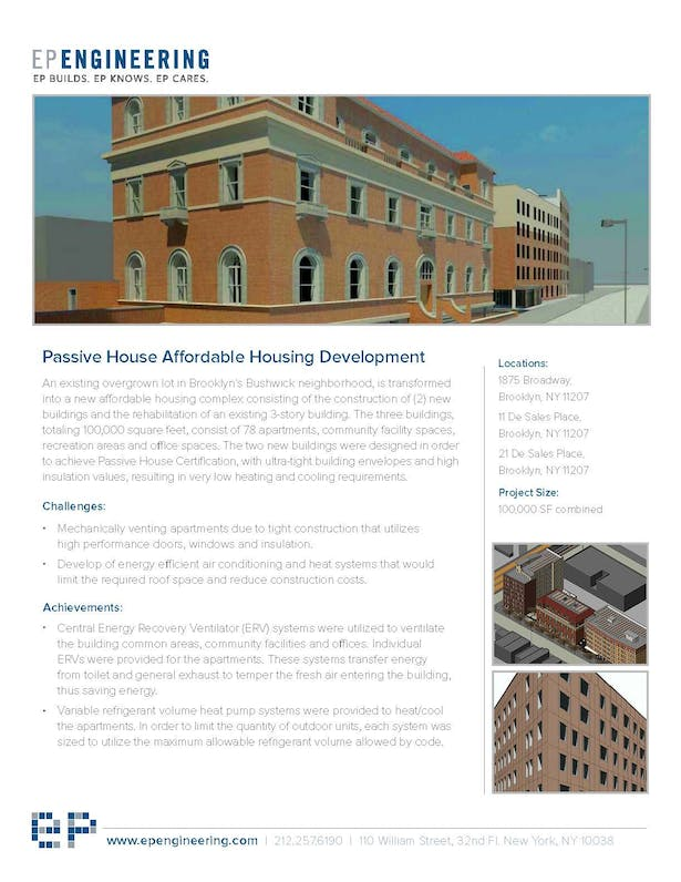 Passive House Affordable Housing Development | EP Engineering LLC