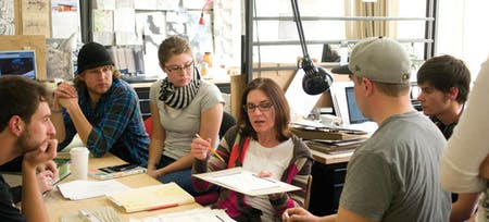 Montana State Faculty with Students. Image via Association of Collegiate Schools of Architecture