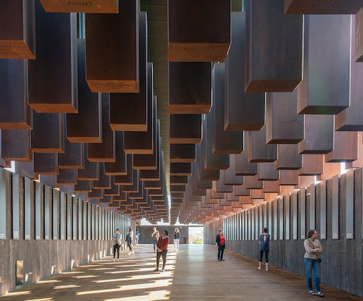 The National Memorial for Peace and Justice in Montgomery, Alabama by MASS Design Group.