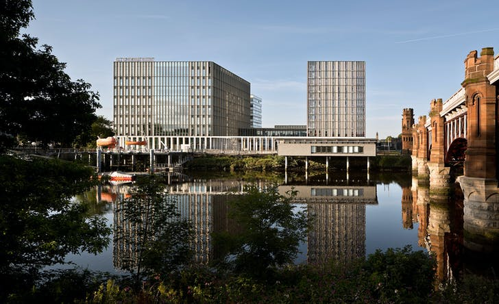 City of Glasgow College Riverside Campus by Michael Laird Architects and Reiach & Hall Architects. Photo: Keith Hunter