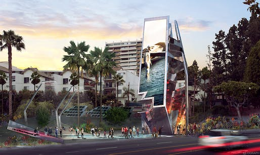 AIA|LA Next LA - HONOR: West Hollywood Belltower (West Hollywood, CA) by Tom Wiscombe Architecture, Inc. Image courtesy AIA|LA.