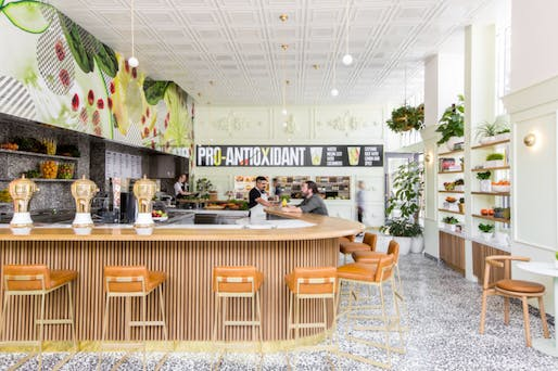 The newly revamped Jamba Juice in Pasadena, CA designed by Bestor Architecture. Photo: Laure Joliet via scpr.org