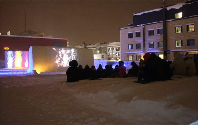 Seating in Snow Theater, Rovaniemi