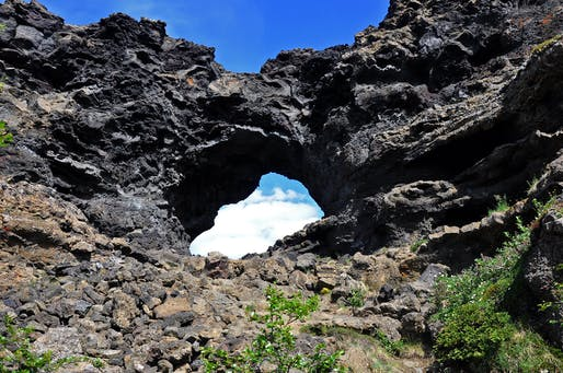 "Black lava formations in Dimmuborgir in Iceland. Photo: Jennifer Boyer/<a href=""https://www.flickr.com/photos/jenniferboyer/22320068371"">Flickr</a>."