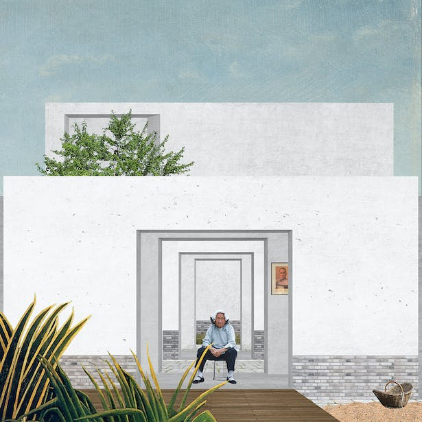 Landscape within a house