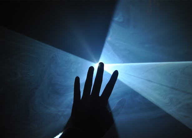 projection through haze: materialization of light as space-making material