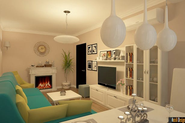 Apartament 3 camere amenajat modern