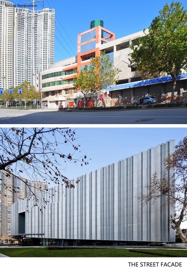 Before-after main road facade