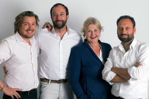 Lars Krückeberg, Wolfram Putz, Marianne Birthler and Thomas Willemeit are the curators of the German Pavilion at Architecture Biennale 2018. Photo: GRAFT GmbH