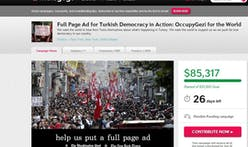 Full-Page Ad Inspired By Turkish Protests Is One Of Indiegogo's Fastest Campaigns Ever