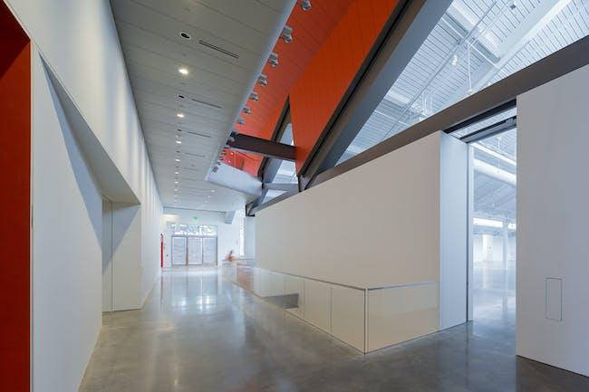 ain corridor, looking south toward the public entrance on Center Street. Photo: Iwan Baan.