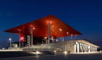 Atelier Paul Laurendeau's Amphithéâtre Cogeco brightens up Trois-Rivières