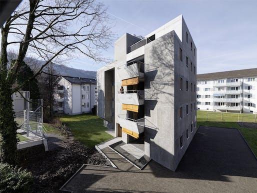gus wüstemann architects - Affordable Housing in Zurich for the Baechi Foundation. Zurich, Switzerland. Photo: Bruno Helbling.
