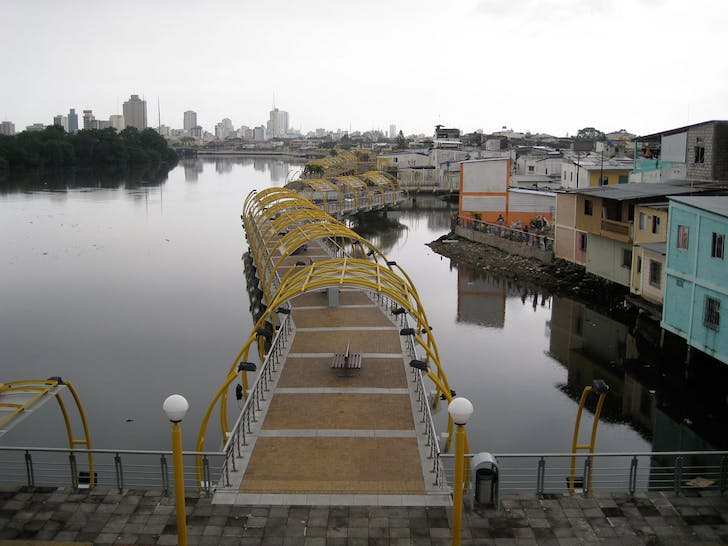 Waterfront and Boardwalk renovation project, 'El Malecón Salado', Guayaquil (Ecuador). The 'Malecón Salado' is part of the larger 'Malecón 2000' beautification scheme for the city.