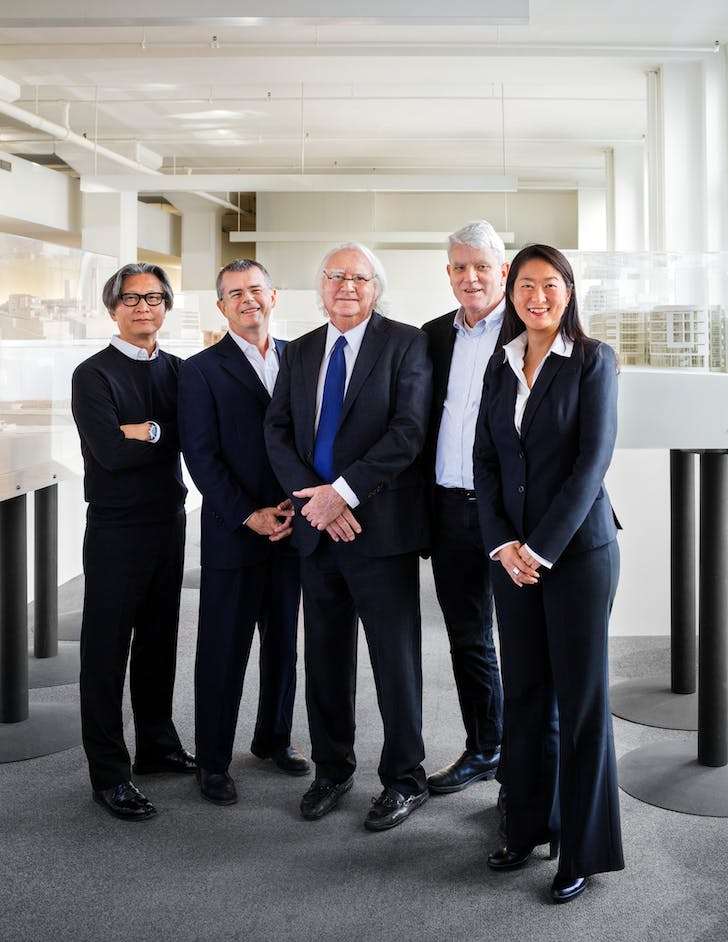 Richard Meier with Associate Partners. Photo: Scott Frances.