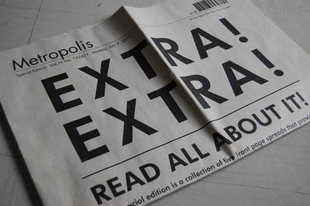Newspaper covers 5 specific dates in an alternate world