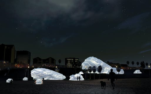 """​Glass Boulders"", A submission to the Land Art Generator Initiative (LAGI) 2018 Competition for Melbourne. TEAM: Luis Guzmán, Cody Anderson, Natalia Bezerra, Andrew Ioannou, Jiao Di, Rebecca Sutton, Mungki Dewi, Audrey Yeo TEAM LOCATION: Edinburgh, UK ENERGY TECHNOLOGIES: luminescent solar..."