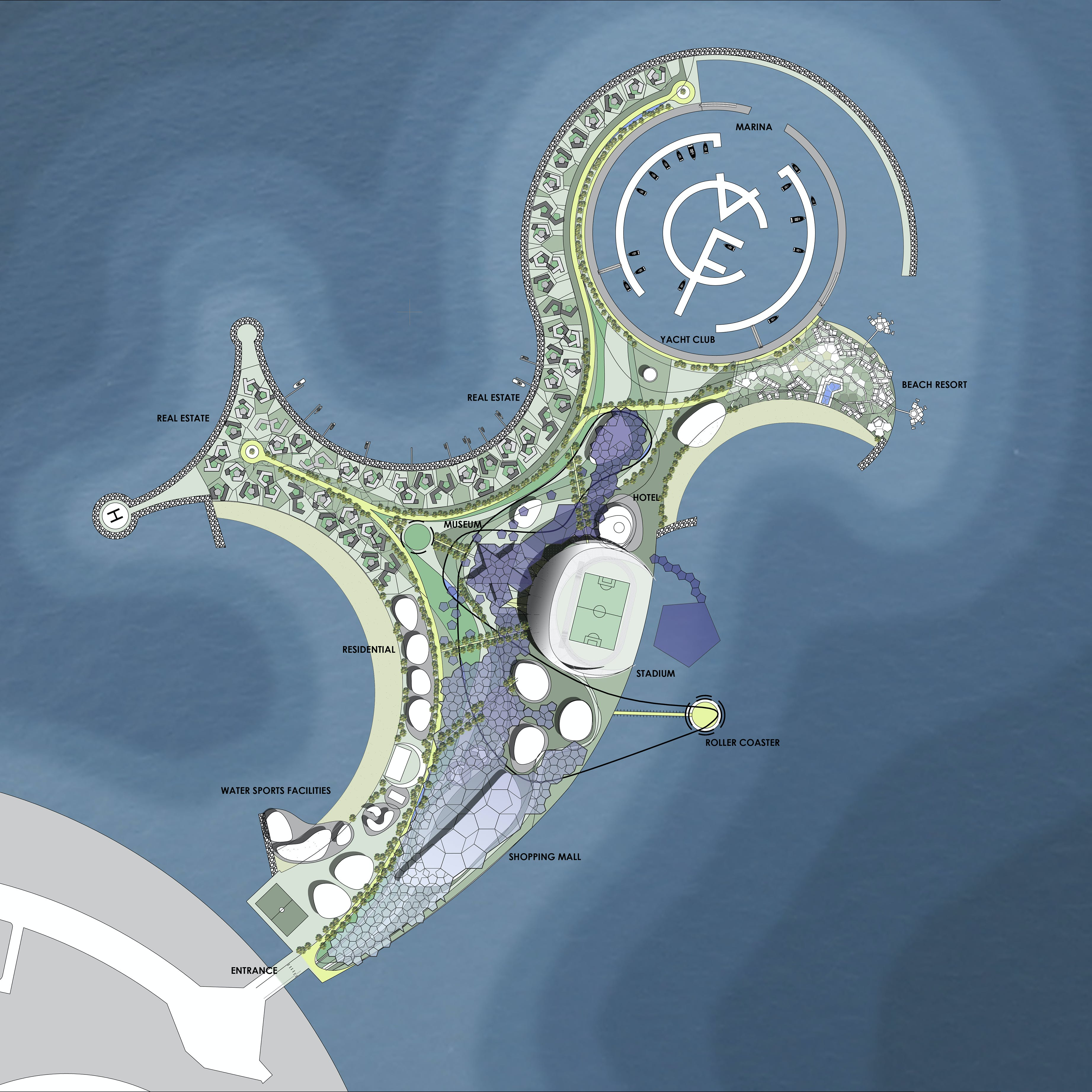 Real Madrid Resort Island Boiffils Architectures Archinect