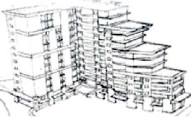Hand Sketch of design for Embassy Suites in Ka'anapali, HI