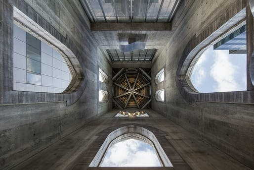 Steeple interior. Photo credit: Adrien Williams.