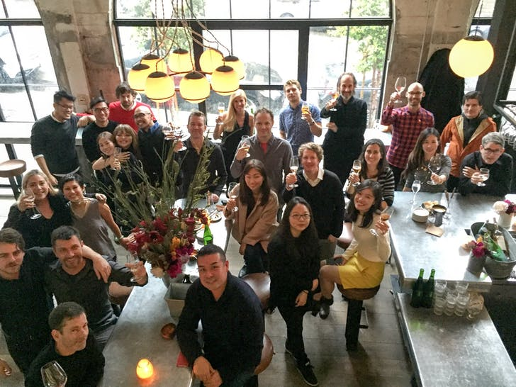 Eight Inc. San Francisco team members gather at Union Larder, one of their clients.