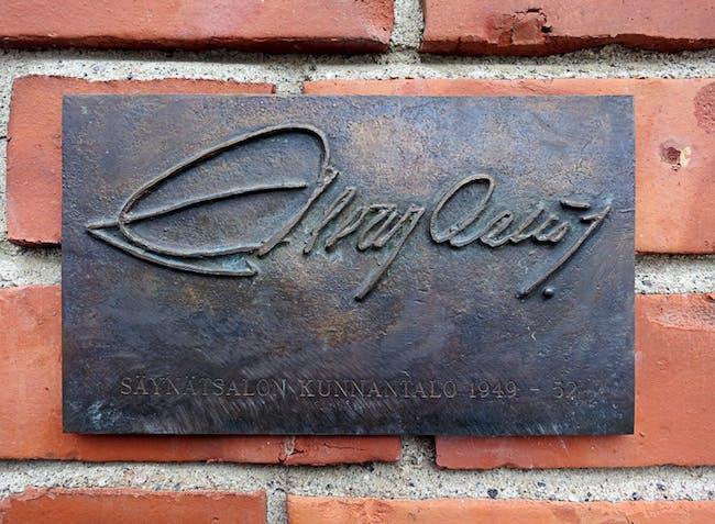 Alvar Aalto Signature at Säynätsalo Townhall