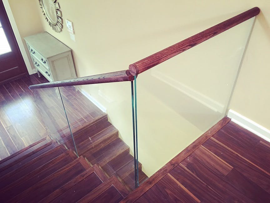 Glass Railings Second Floor Guardrail Bella Stairs Llc Archinect
