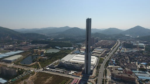 thyssenkrupp's new 31-story elevator test tower in Zhongshan, China. Photo: thyssenkrupp Elevator AG.