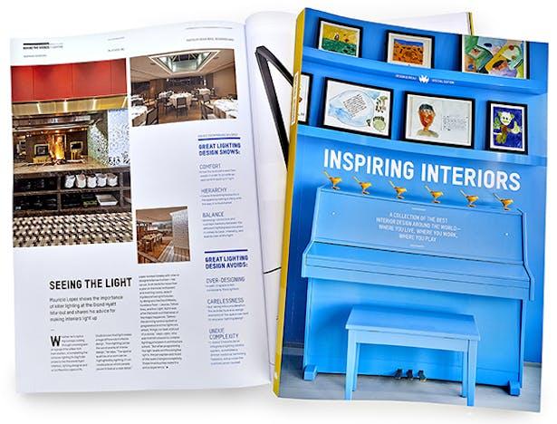 Inspiring Interiors special edition by Design Bureau Magazine featuring ML Studio