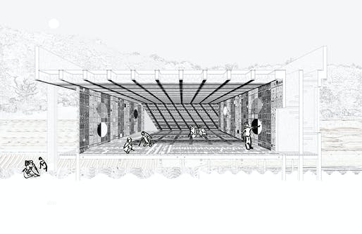 """The Silver Medal winner (best Part 2 design project): Daniel Hall (The Cooper Union, New York, USA), tutored by Lauren Kogod. Project: """"Cycles of Toolmaking: An Optic, Tactile, Haptic, Material, Scalar and Pedagogic Study""""."""