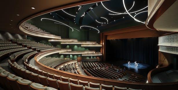 Interior rendering of the auditorium
