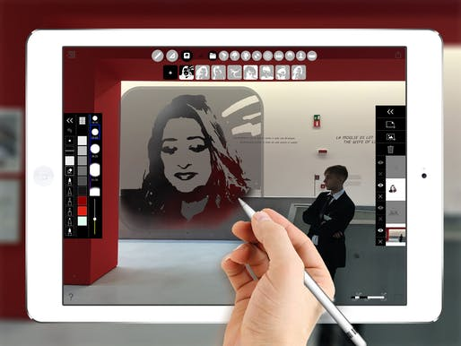 A digital stencil of the late, great, Zaha Hadid. Image: Morpholio