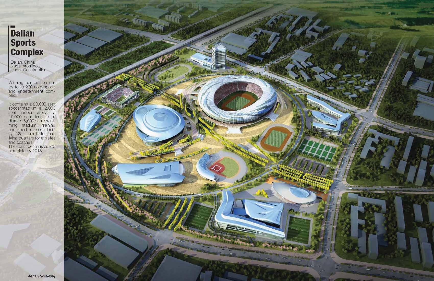 dalian sports complex andre abrahamian aia archinect