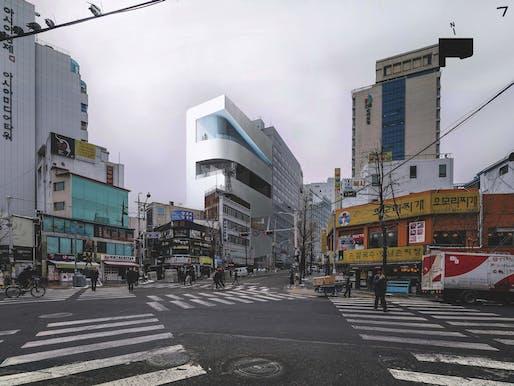 "Mass Studies' winning ""Seoul Cinematheque"" proposal. Photo credit: Mass Studies."