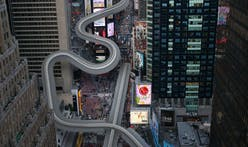 Is that a luge in Times Square?