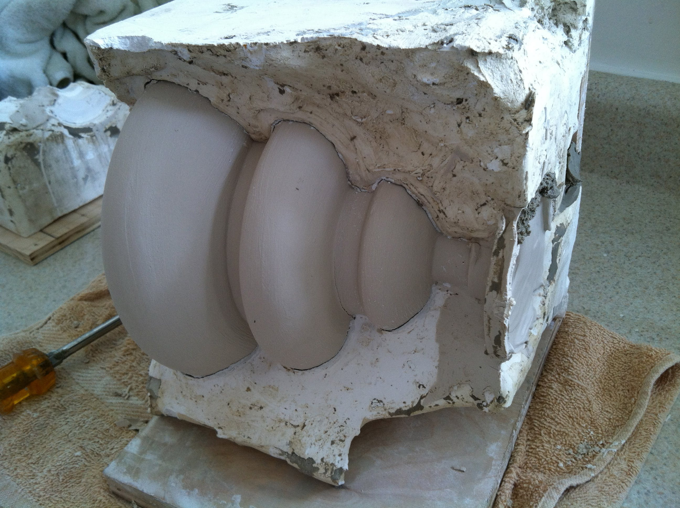 Apoidea Lamp Design and Prototype | Kimberly Hylton | Archinect for Clay Lamp Design  157uhy