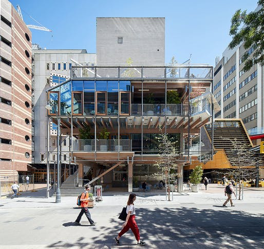 New Academic Street, RMIT University by Lyons with NMBW Architecture Studio, Harrison and White, MvS Architects and Maddison Architects (VIC). Photo: Peter Bennetts.