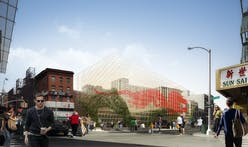 "Inspired by Bamboo scaffolding, ODA designs ""Dragon Gate"" at the Canal Street Triangle"