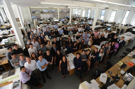 Rafael Viñoly Architects' New York City team. Photo courtesy of the firm.